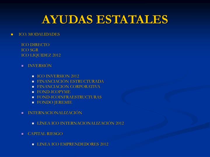 AYUDAS ESTATALES