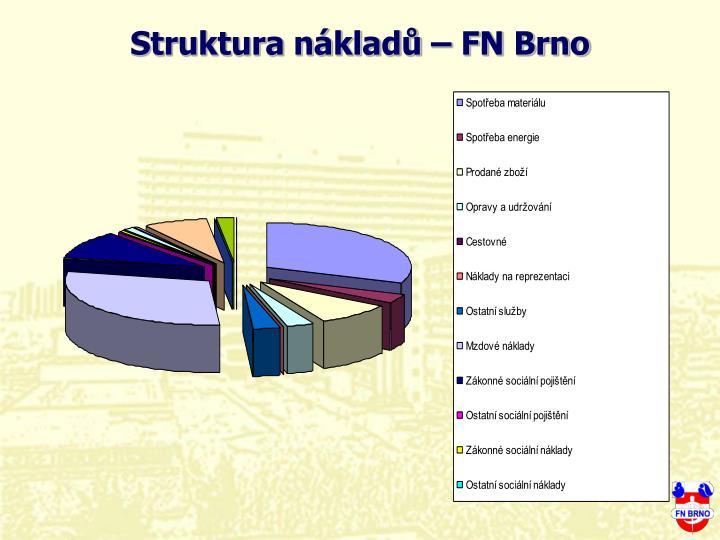 Struktura nklad  FN Brno