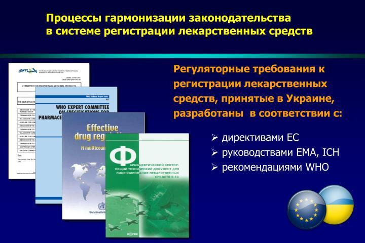 Процессы гармонизации законодательства