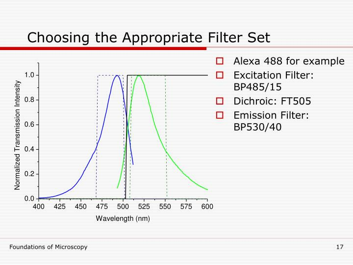 Choosing the Appropriate Filter Set