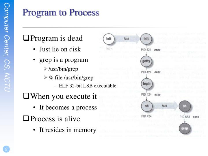 Program to process