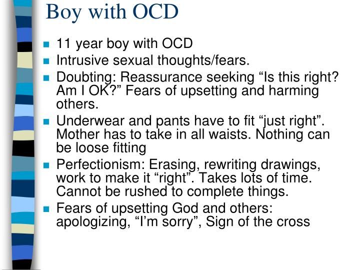 Boy with OCD