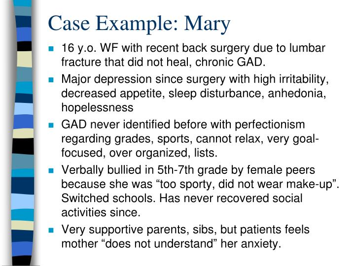 Case Example: Mary