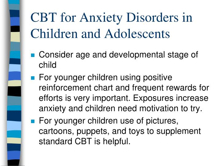 CBT for Anxiety Disorders in Children and Adolescents