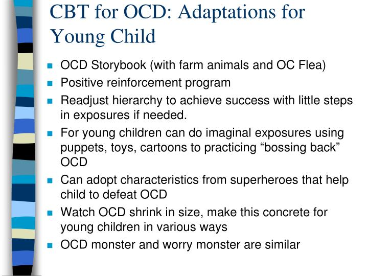 CBT for OCD: Adaptations for Young Child