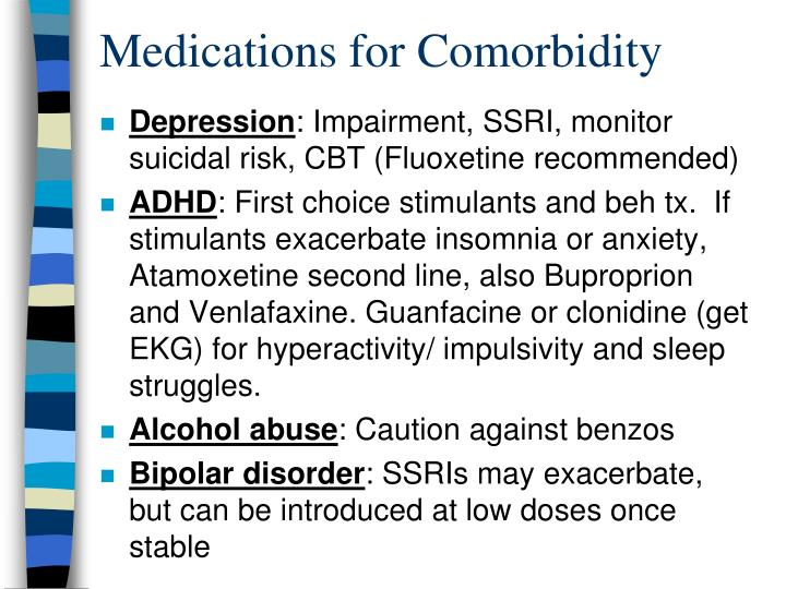 Medications for Comorbidity