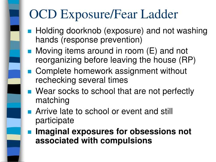 OCD Exposure/Fear Ladder
