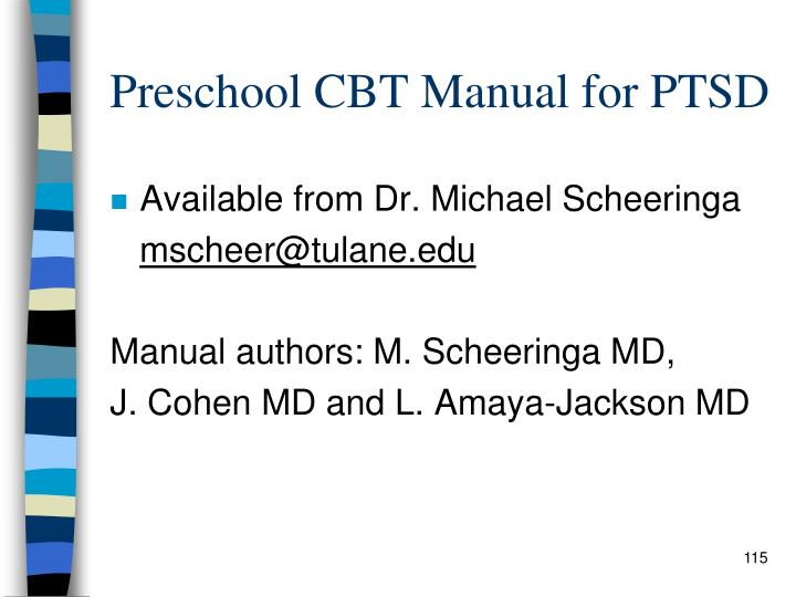 Preschool CBT Manual for PTSD