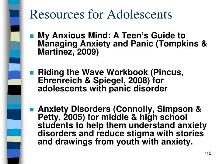 Resources for Adolescents