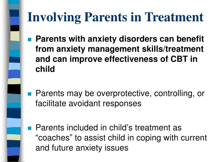 Involving Parents in Treatment