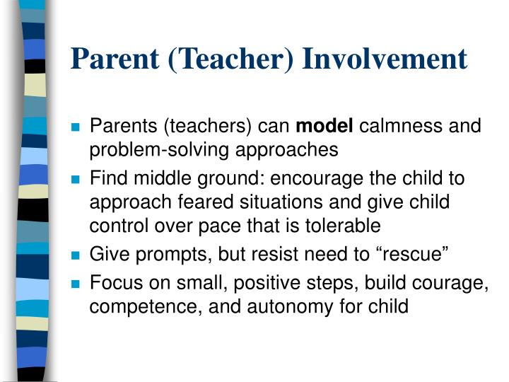 Parent (Teacher) Involvement