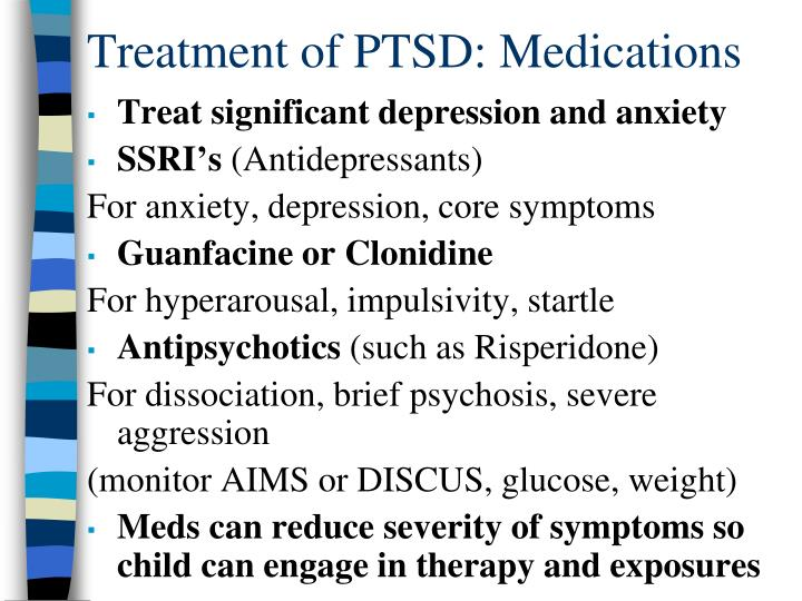 Treatment of PTSD: Medications