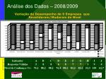 an lise dos dados 2008 2009