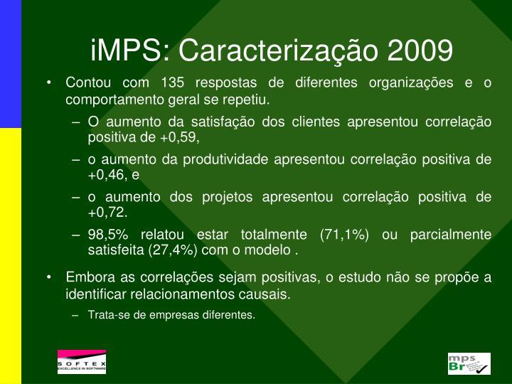 iMPS: Caracterização 2009
