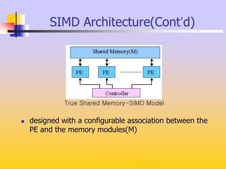 SIMD Architecture(Cont