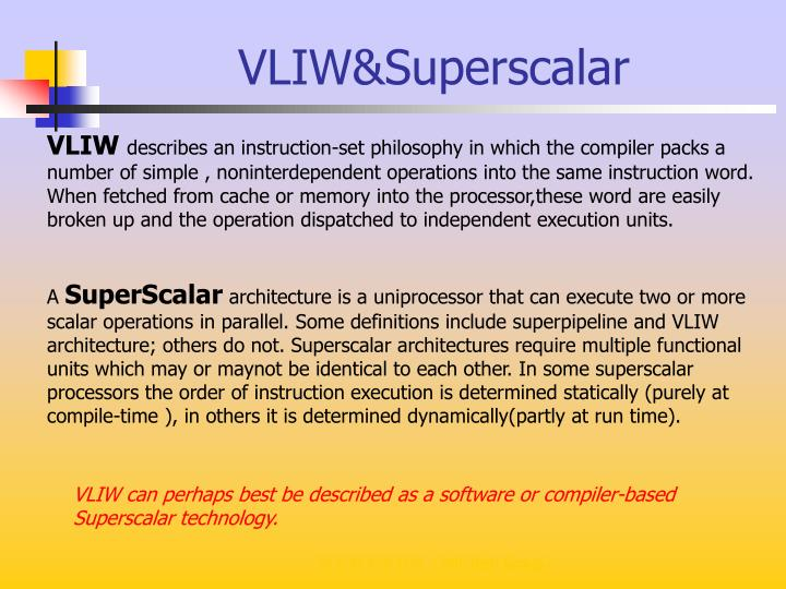 VLIW&Superscalar