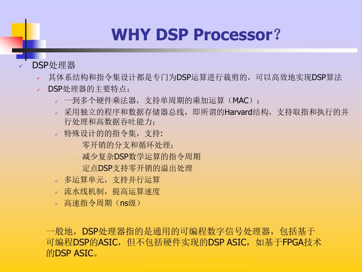 WHY DSP Processor