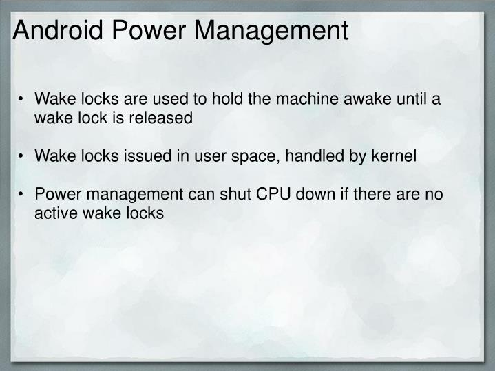 Android Power Management