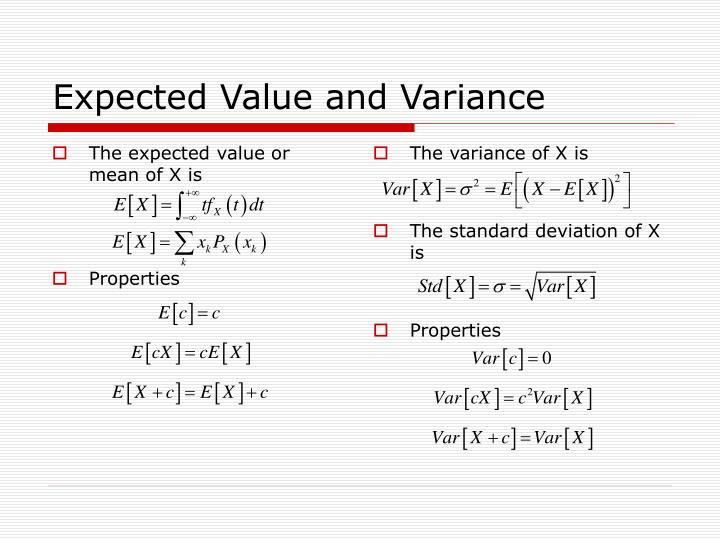 The expected value or mean of X is