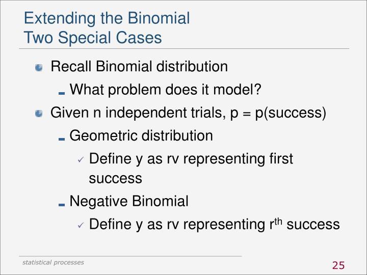 Extending the Binomial
