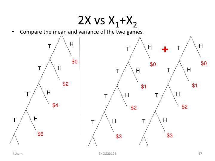 2X vs X