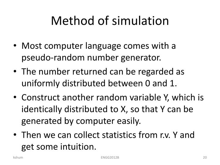 Method of simulation