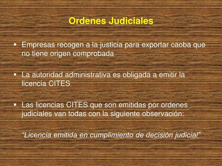 Ordenes Judiciales