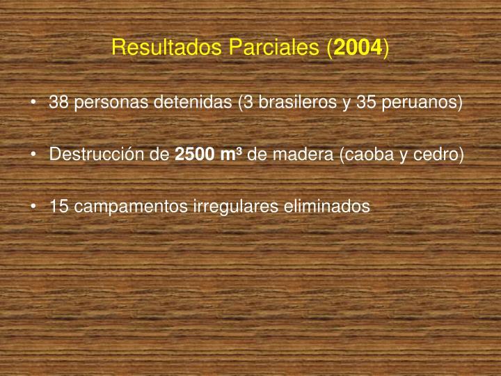Resultados Parciales (
