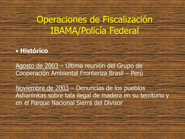 Operaciones de Fiscalización