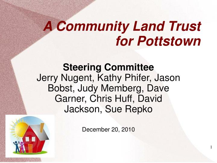 A community land trust for pottstown