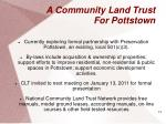a community land trust for pottstown1
