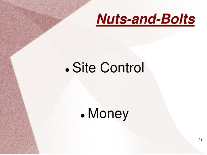 Site Control