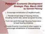 pottstown economic development strategic plan march 2008 by gannett fleming
