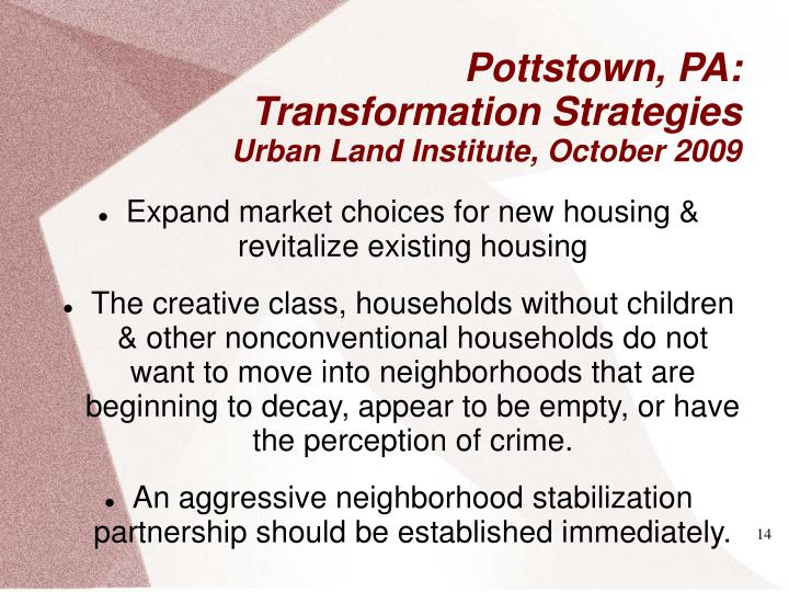 Expand market choices for new housing & revitalize existing housing