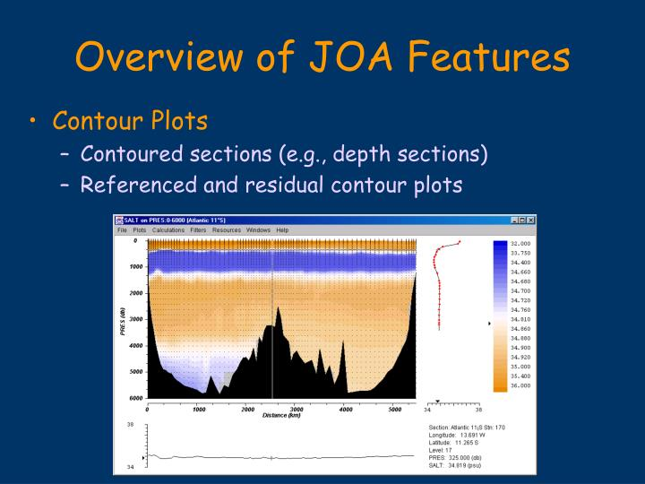 Overview of JOA Features