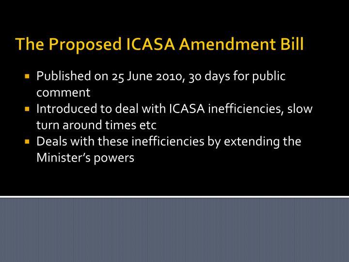 The Proposed ICASA Amendment Bill