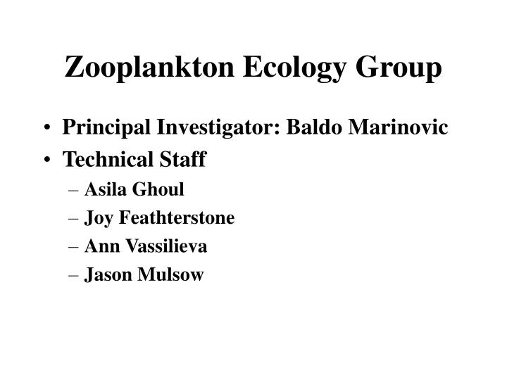 Zooplankton ecology group
