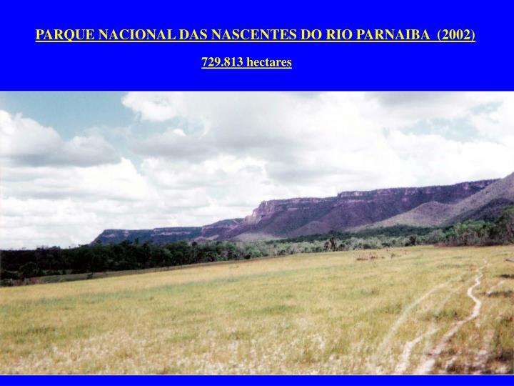 PARQUE NACIONAL DAS NASCENTES DO RIO PARNAIBA  (2002)