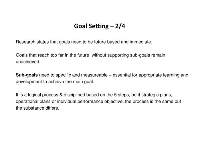 Goal Setting – 2/4