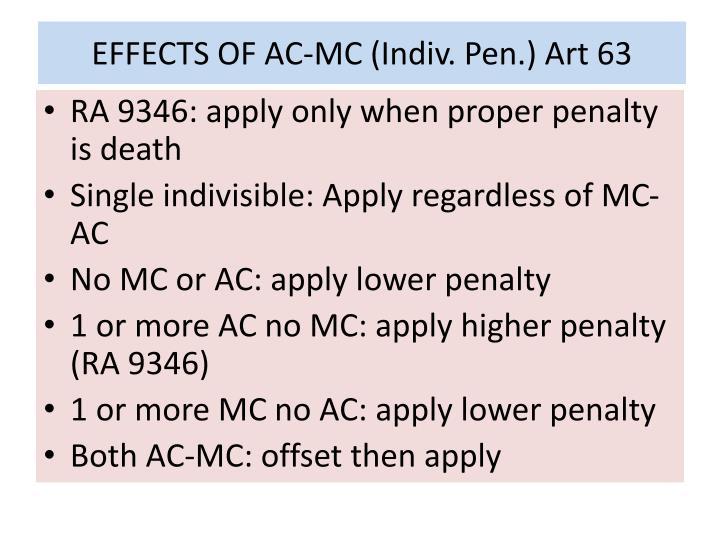 EFFECTS OF AC-MC (