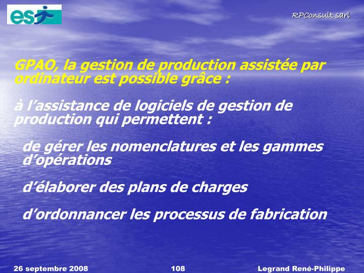 GPAO, la gestion de production
