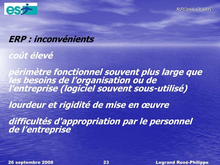 ERP : inconvnients