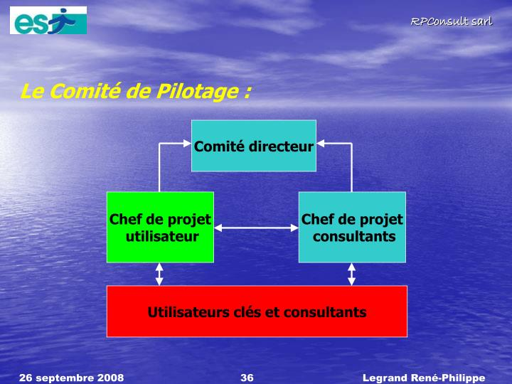 Le Comit de Pilotage :