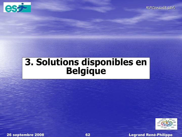 3. Solutions disponibles en Belgique