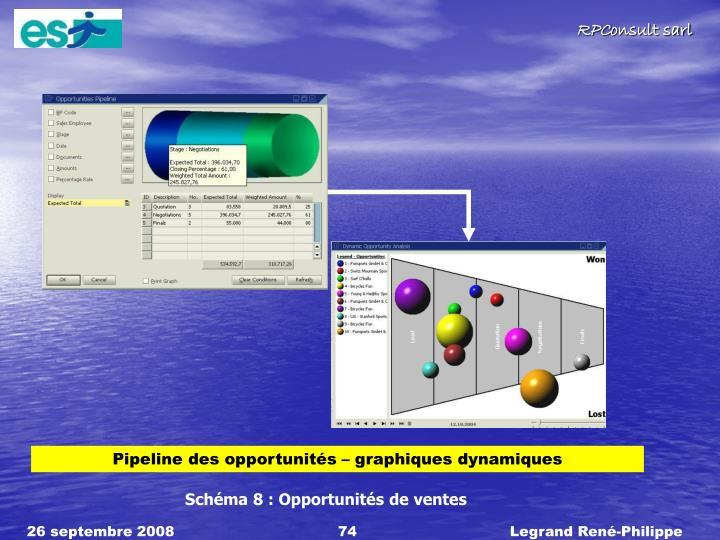 Pipeline des opportunits  graphiques dynamiques