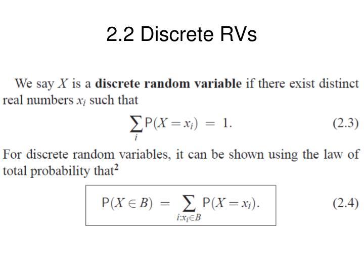 2.2 Discrete RVs