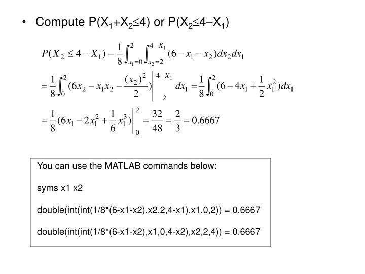 Compute P(X