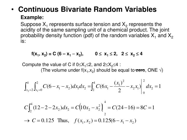 Continuous Bivariate Random Variables