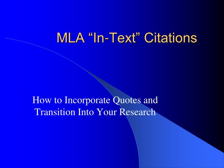 mla thesis citations