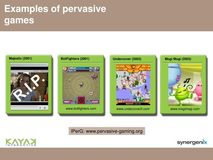 Examples of pervasive games